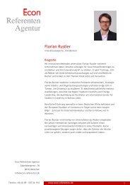 Florian Rustler - Econ Referenten-Agentur