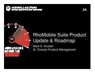 RhoMobile Suite Product Update & Roadmap - Motorola Solutions ...