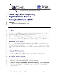 ebXML Registry And Repository Registry Services Proposal