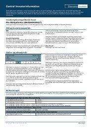 Central investorinformation - Danske Invest
