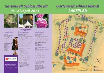 Gartenwelt Schloss Rheydt LAGEPLAN Gartenwelt Schloss Rheydt