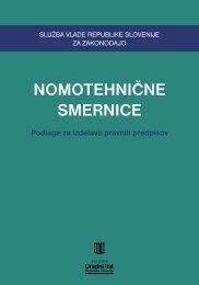 NOMOTEHNIČNE SMERNICE - Služba Vlade RS za zakonodajo
