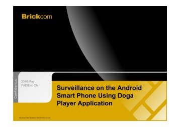 Surveillance on the Android Smart Phone Using Doga Player ... - ELV