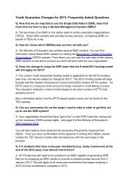 FAQs for Youth Guarantee Changes 2013 - Tertiary Education ...
