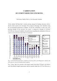 carbonation of cement reduced concretes - Institut für Massivbau