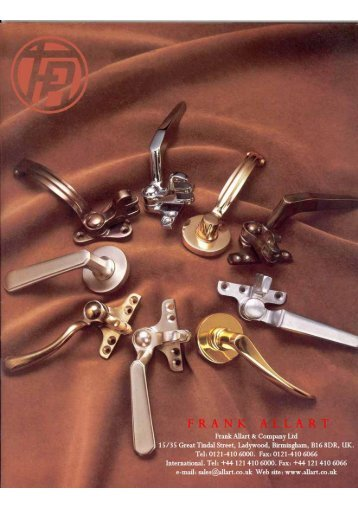 Frank Allart Steel Window Fittings - Architectural Hardware Direct