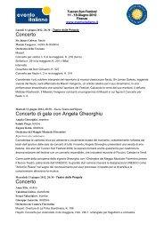 Concerto Concerto di gala con Angela Gheorghiu ... - Evento Italiano