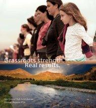 The Sierra Club Foundation Annual Report 2011