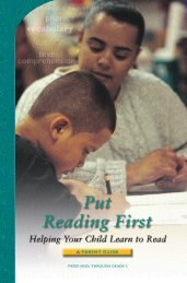 Put Reading First: Helping Your Child Learn to Read - LINCS
