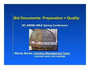 OM_T_11.50_BidDocs_Banks - Public Documents - NC AWWA-WEA