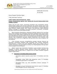 surat pekeliling ikhtisas bil. 6/2003 : dasar penggunaan media dan ...
