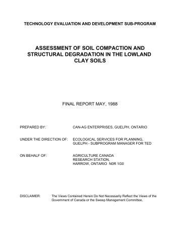 View / Download Final Report - Ontario Agri-Environmental ...