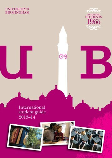 International Student Guide (PDF - 1.89MB) - University of Birmingham