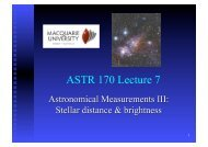ASTR 170 Lecture 7
