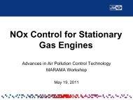 NOx Control for Stationary Gas Engines - MARAMA