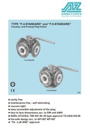 TYPE F-4 / F-5 ISO – STANDARD 4 and 5 way plug-valve