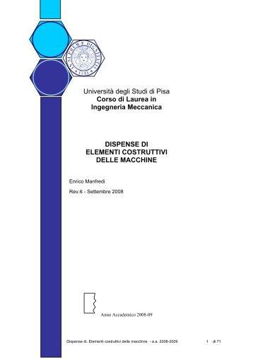 Dispense ECM, introduzione al comportamento meccanico dei ...