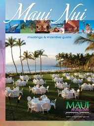 NA - maui meeting planner home page