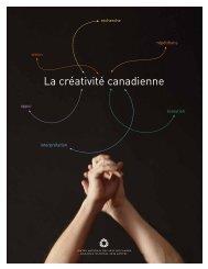 La créativité canadienne - Publications du gouvernement du Canada
