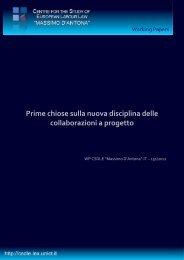 Prime chiose sulla nuova disciplina delle collaborazioni a progetto