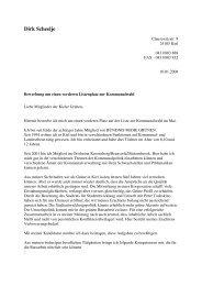 Bewerbungsschreiben Dirk Scheelje - Bündnis 90/Die Grünen Kiel