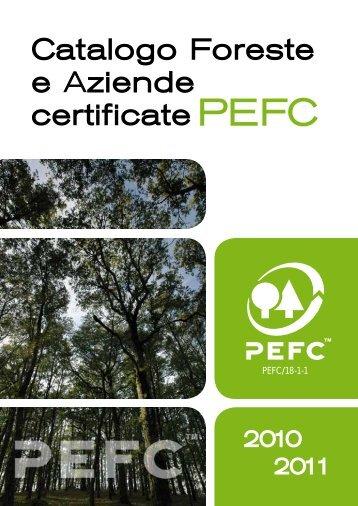 Catalogo Foreste e Aziende Certificate PEFC 2010 - greenfvg.it