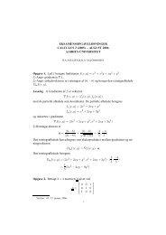 EKSAMENSOPGAVELØSNINGER CALCULUS 2 (2005) – AUGUST ...