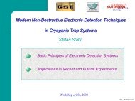 Modern Non-Destructive Electronic Detection Techniques in ... - GSI