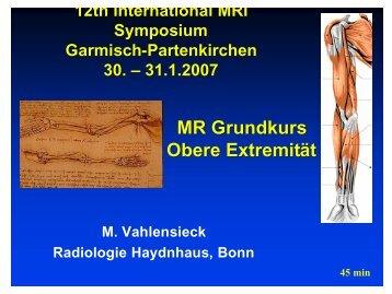 MRI Symposium Garmisch 1/07 obere Extremität