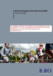 Bestemmingsplan Kom Warmond 2009 - Gemeente Teylingen