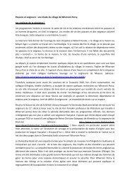 Paysans et seigneurs - Histoire géographie Dijon