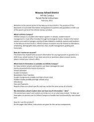 Infinite Campus Parent Portal Instructions - Wausau School District