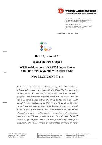 PDF (399 kB) - Windmöller & Hölscher KG
