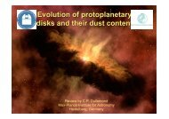 Evolution of protoplanetary disks and their dust content