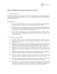 New Terms of Reference and Rules of Procedure for the STC 1 ...