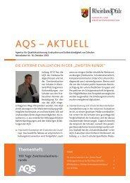 AQS-Aktuell Nr. 16, Oktober 2012