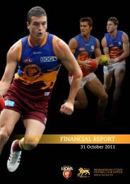 FINANCIAL REPORT - Brisbane Lions
