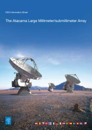 The Atacama Large Millimeter/submillimeter Array - ESO