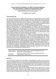 Immunochemische Detektion von ZNS in Fleischerzeugnissen über ...