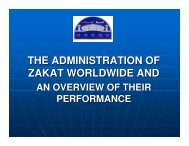 THE ADMINISTRATION OF ZAKAT WORLDWIDE AND