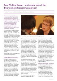 Peer Working Groups - Skills for Life Improvement Programme