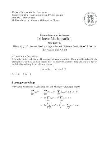 diskrete mathematik 1 lehrstuhl kryptologie it. Black Bedroom Furniture Sets. Home Design Ideas