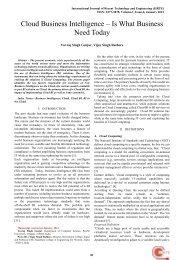 Cloud Business Intelligence - International Journal of Recent ...