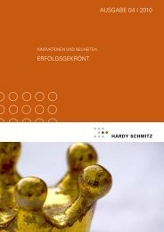 Innovationen & Neuheiten - Hardy Schmitz Shop