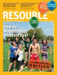 How do Wageningen students live? - Wageningen UR
