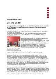 Presseinformation Gesund und fit - INTRA gGmbH