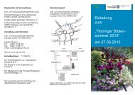 """Einladung zum """"Thüringer Blüten- sommer 2013"""" am 27.06.2013"""