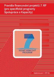 Pravidla financování projektů 7. RP (pro specifické programy ... - czelo