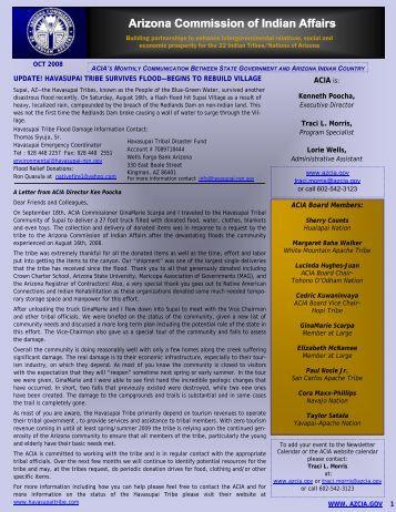 October - Arizona Commission of Indian Affairs