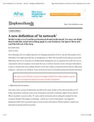 A new definition of 'in network' - Benz Communications